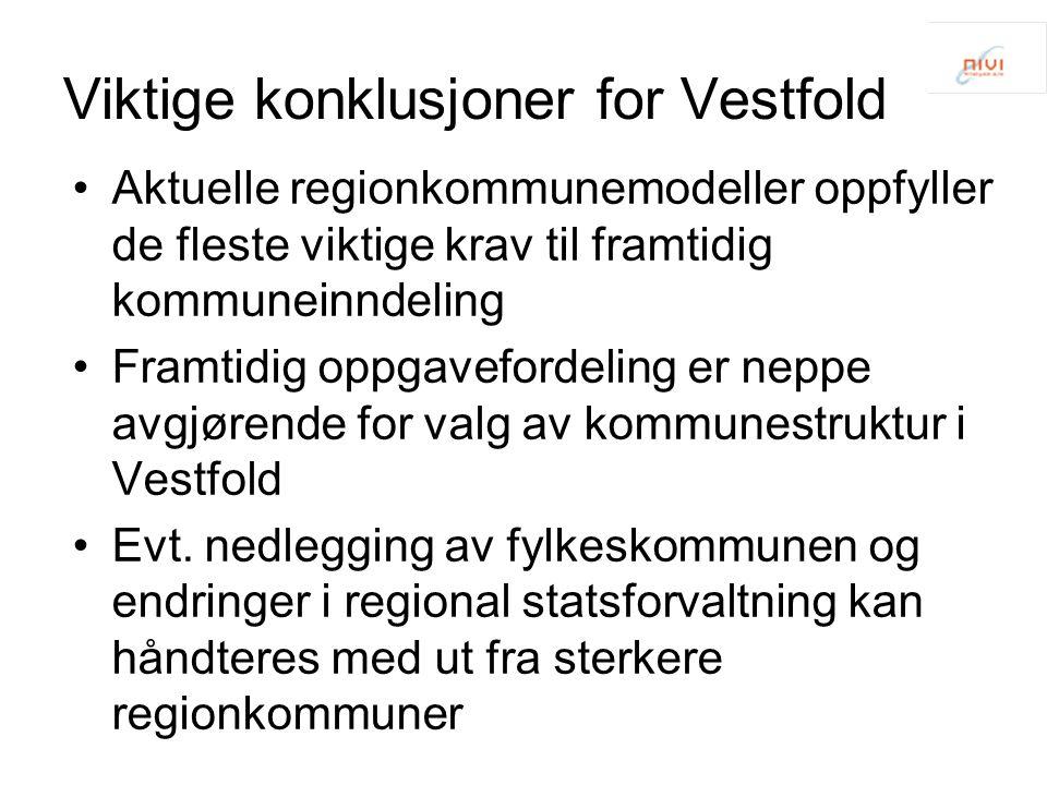 Viktige konklusjoner for Vestfold