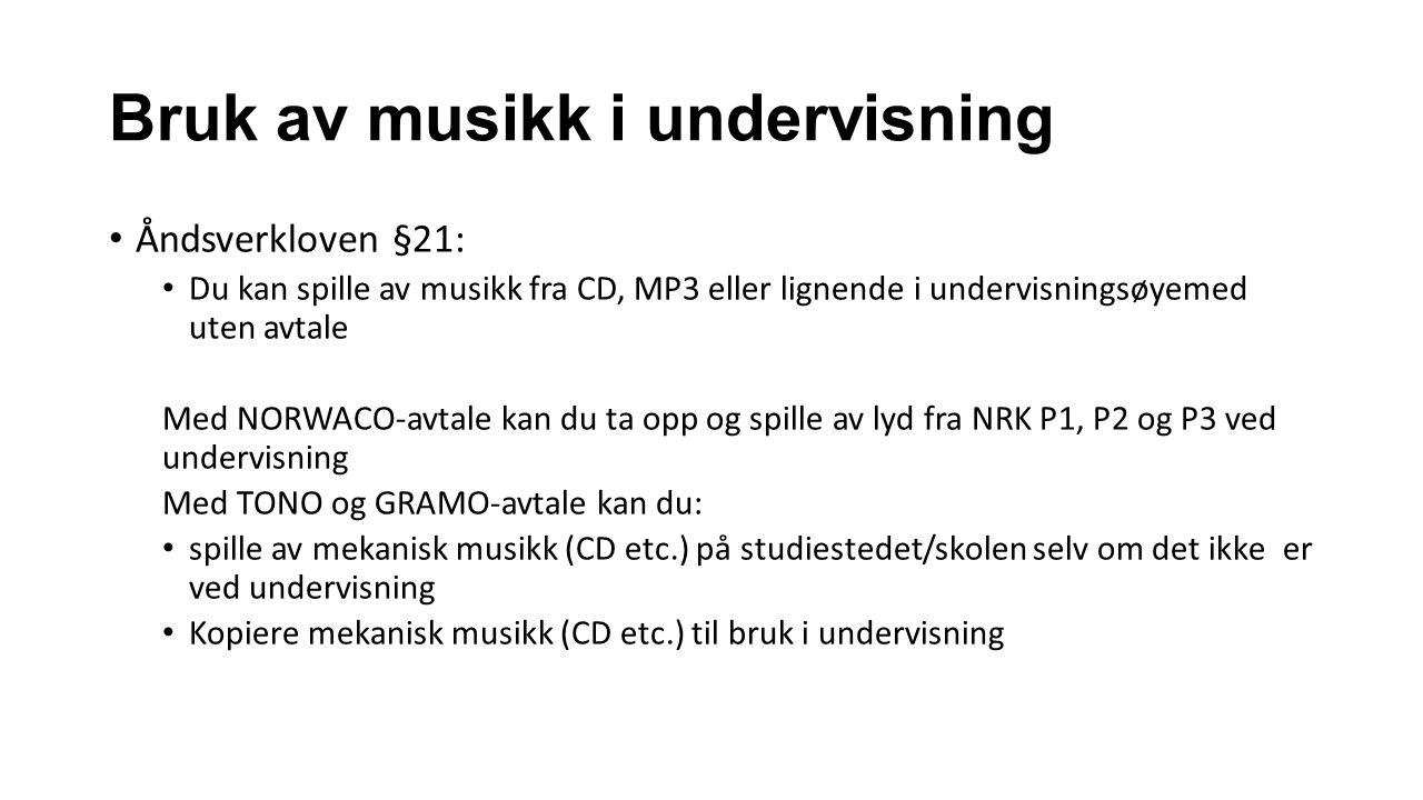 Bruk av musikk i undervisning