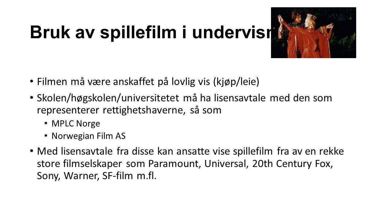 Bruk av spillefilm i undervisning