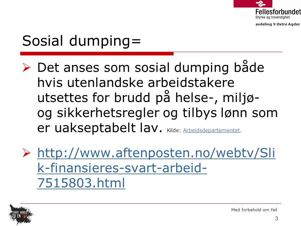 Sosial dumping=