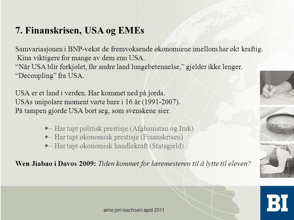 7. Finanskrisen, USA og EMEs