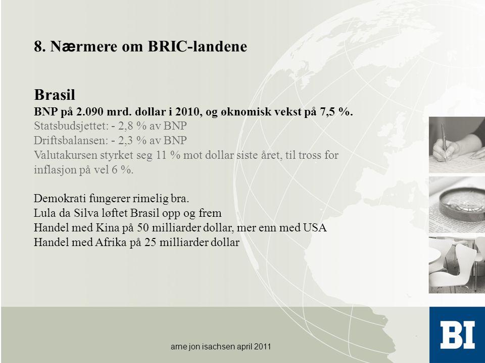 8. Nærmere om BRIC-landene
