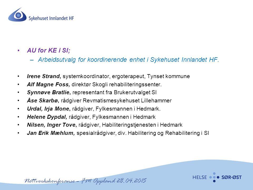 Nettverkskonferanse – FM Oppland 28.04.2015