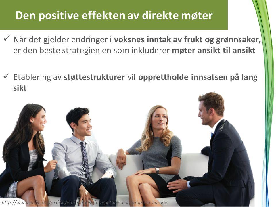 Den positive effekten av direkte møter