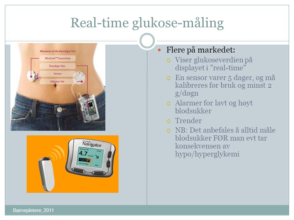 Real-time glukose-måling