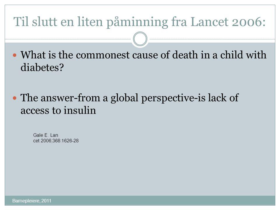 Til slutt en liten påminning fra Lancet 2006: