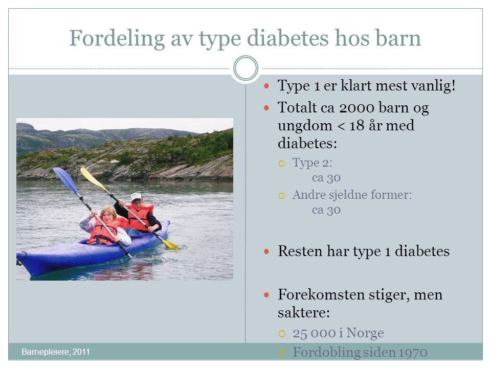Fordeling av type diabetes hos barn