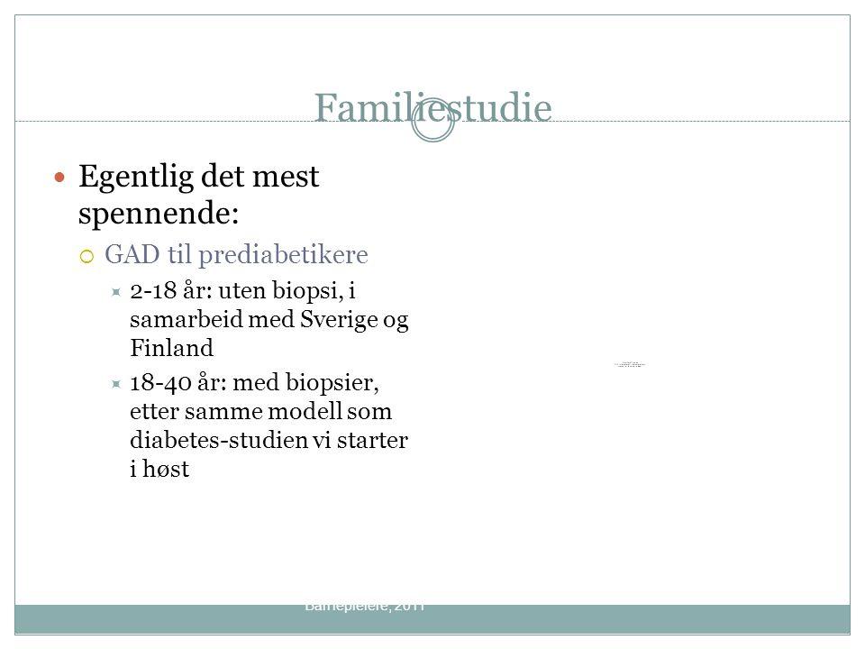 Familiestudie Egentlig det mest spennende: GAD til prediabetikere
