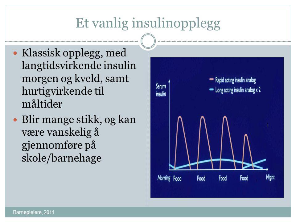 Et vanlig insulinopplegg