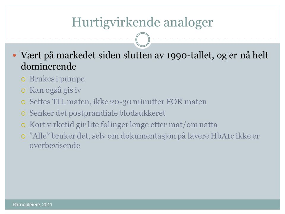 Hurtigvirkende analoger