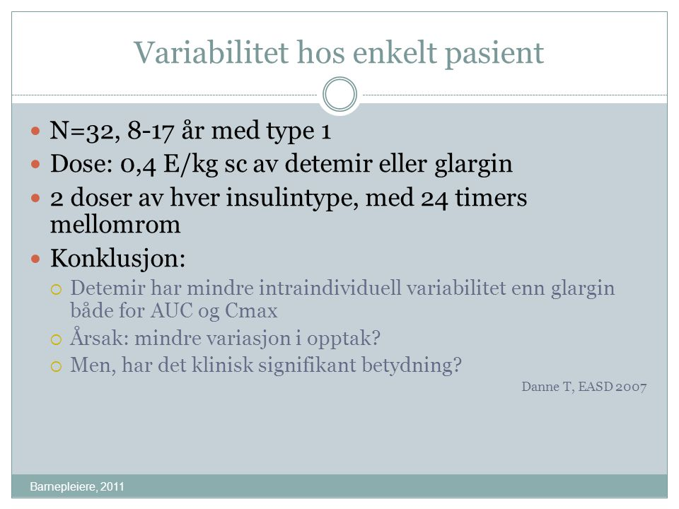 Variabilitet hos enkelt pasient