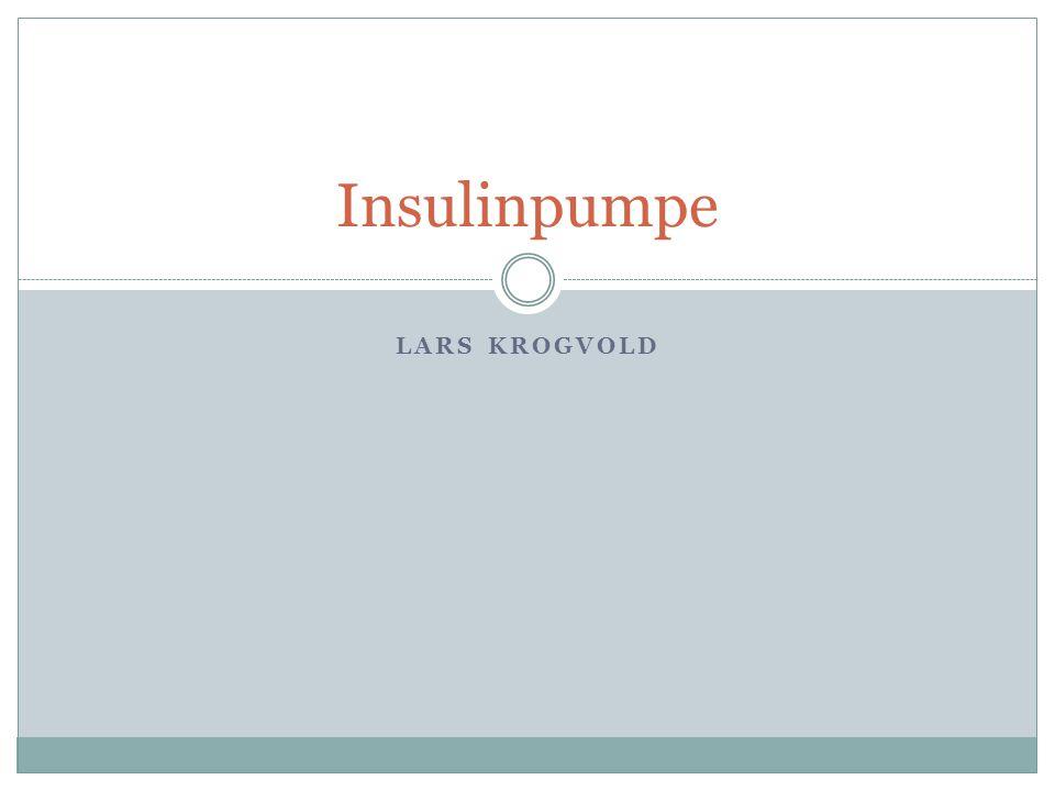 Insulinpumpe Lars Krogvold