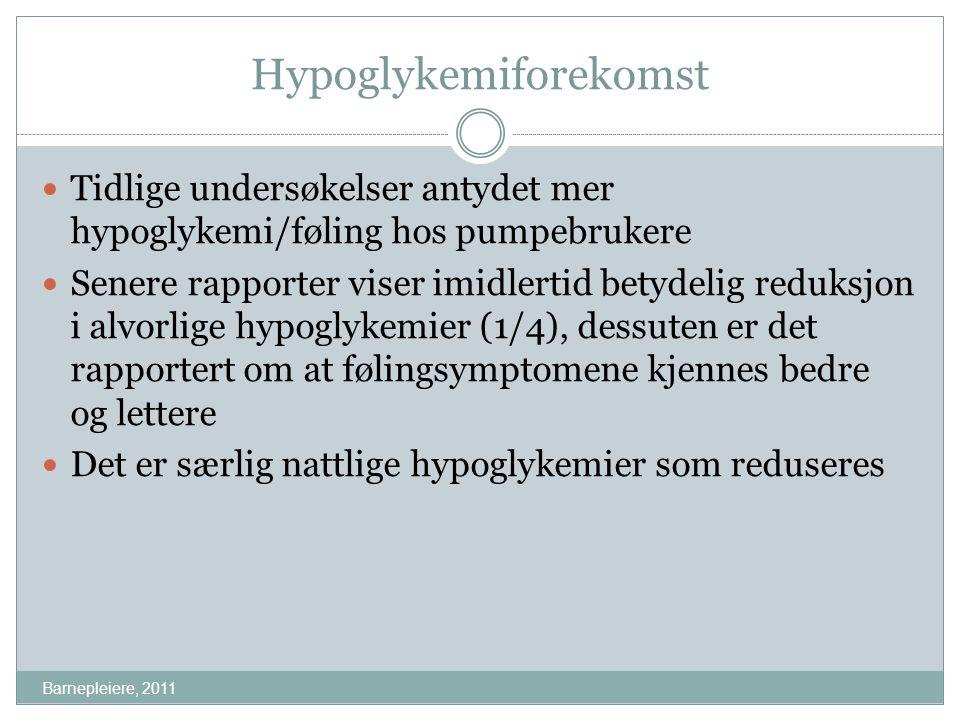 Hypoglykemiforekomst