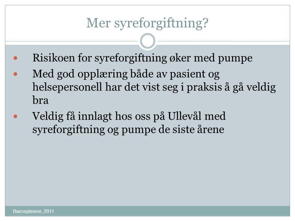 Mer syreforgiftning Risikoen for syreforgiftning øker med pumpe