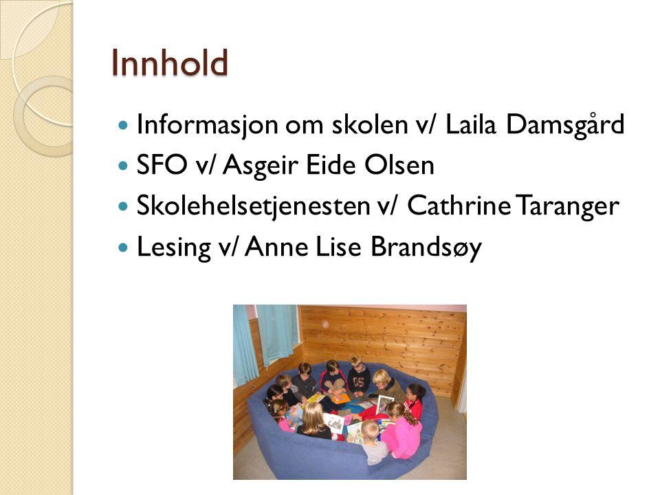 Innhold Informasjon om skolen v/ Laila Damsgård