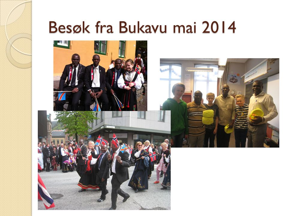 Besøk fra Bukavu mai 2014