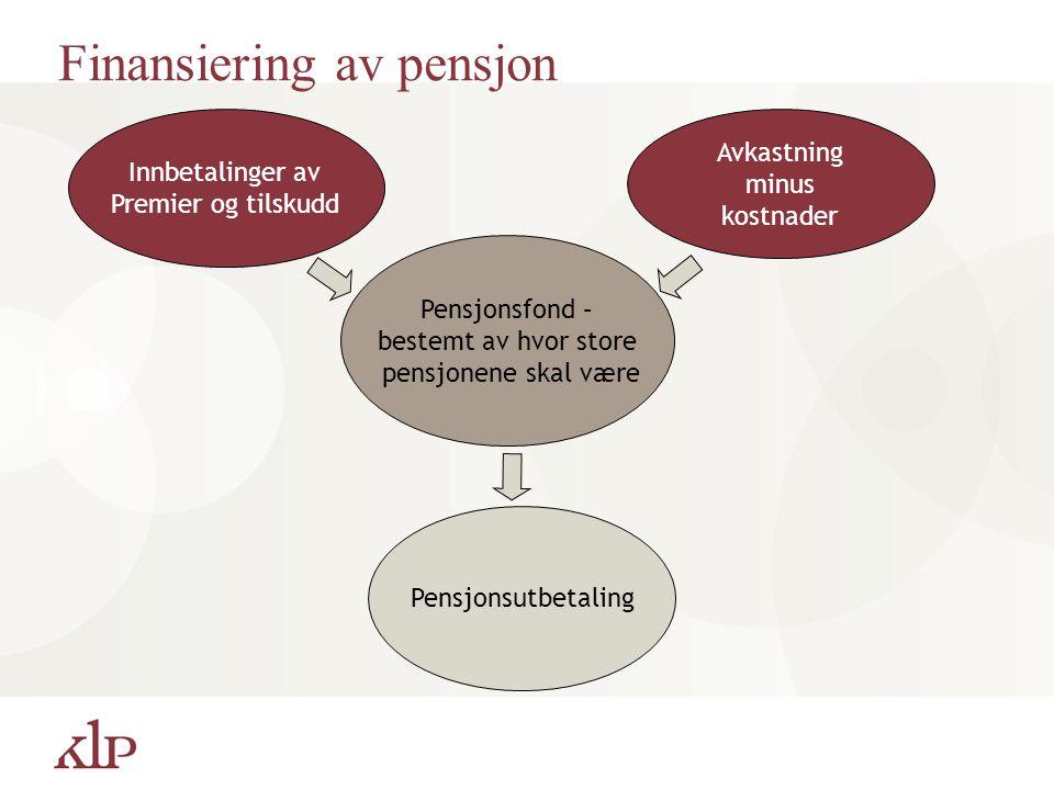 Finansiering av pensjon