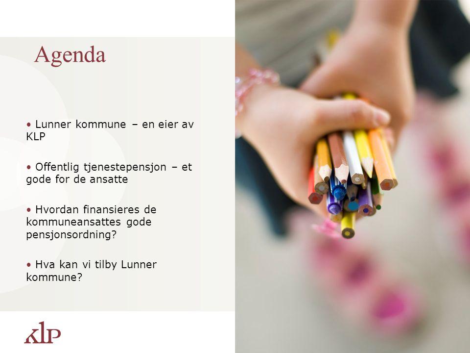 Agenda Lunner kommune – en eier av KLP