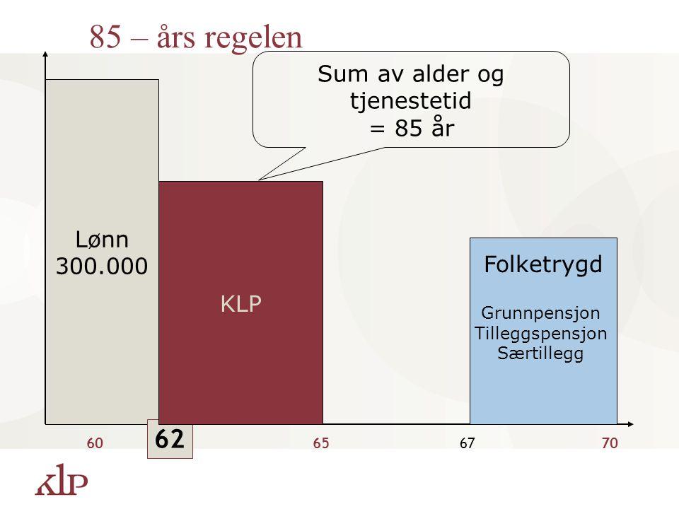 Sum av alder og tjenestetid