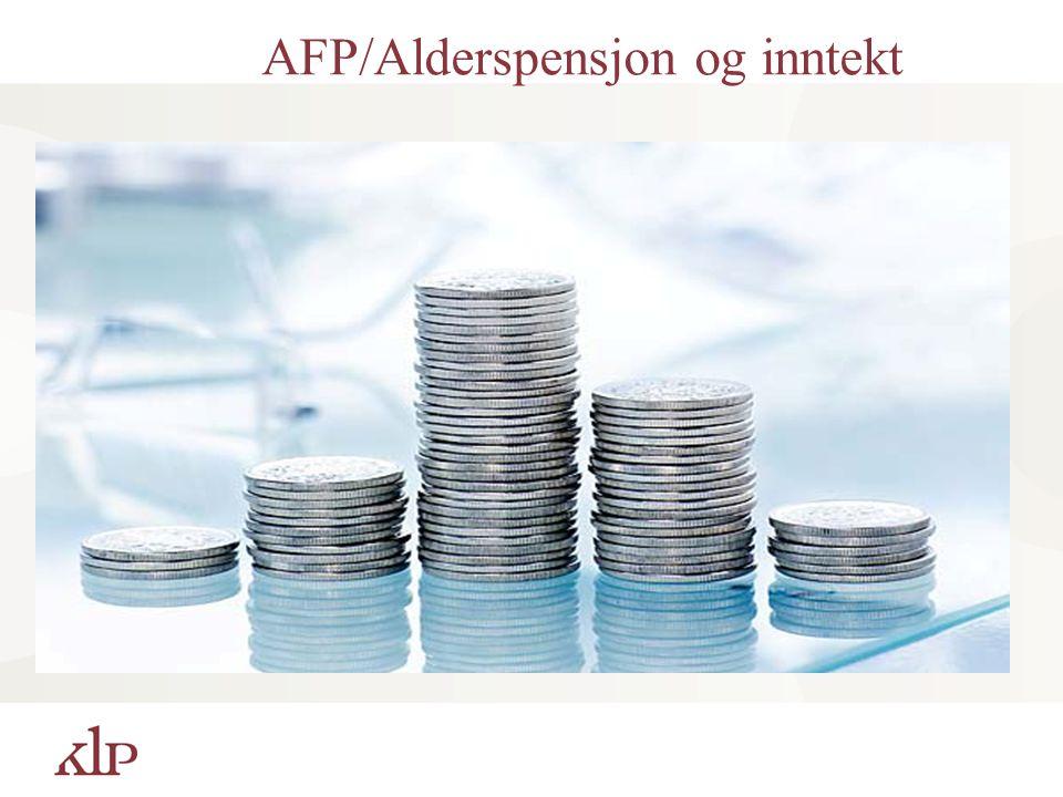 AFP/Alderspensjon og inntekt