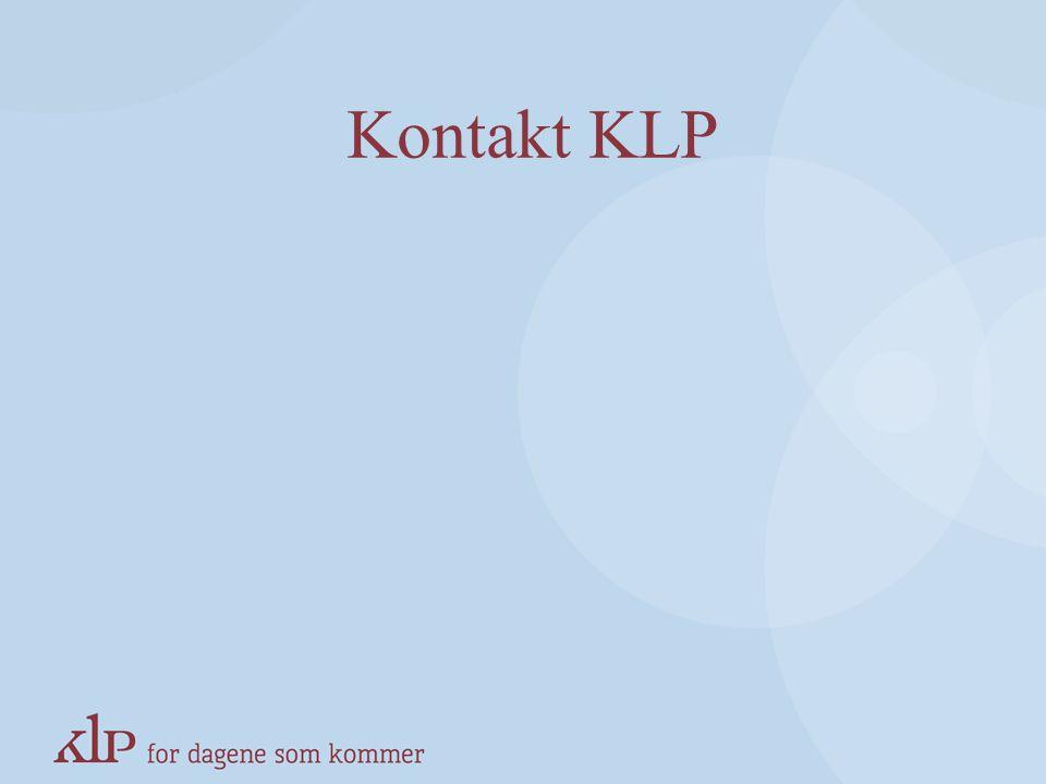 Kontakt KLP KAPITTELSIDE (Blå, norsk pay-off)
