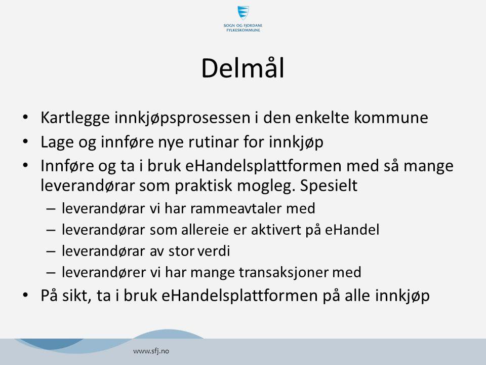 Delmål Kartlegge innkjøpsprosessen i den enkelte kommune