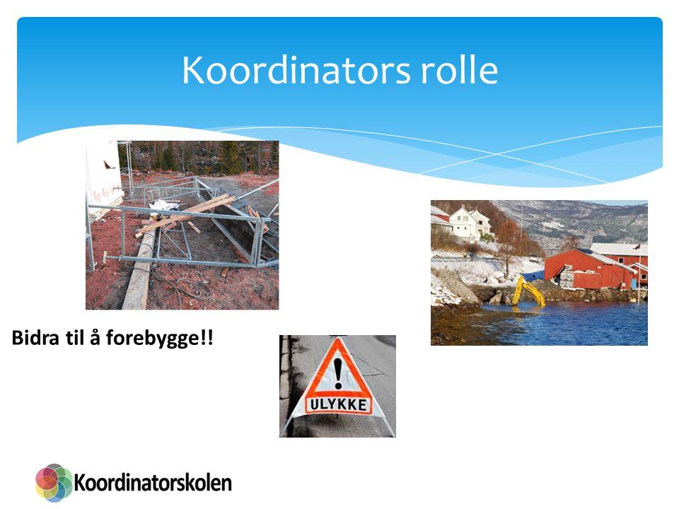Koordinators rolle Bidra til å forebygge!!