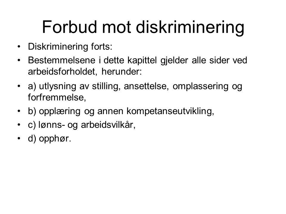 Forbud mot diskriminering
