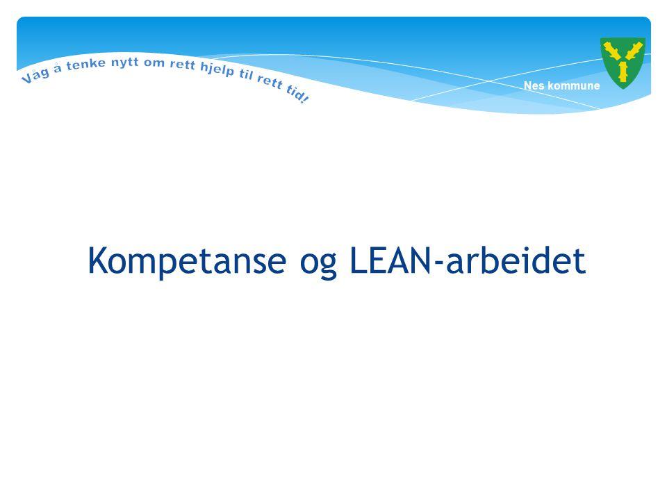 Kompetanse og LEAN-arbeidet