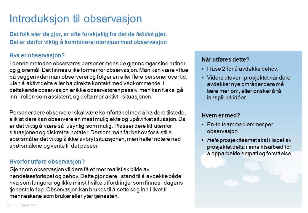 Introduksjon til observasjon