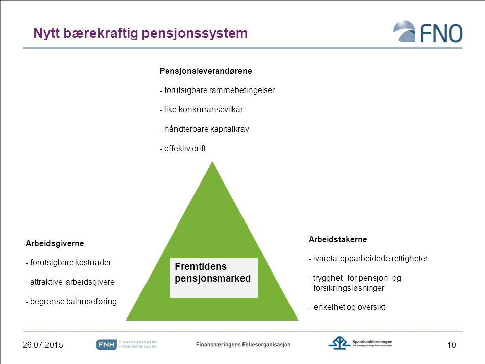 Nytt bærekraftig pensjonssystem