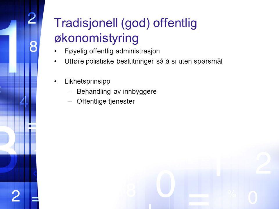 Tradisjonell (god) offentlig økonomistyring