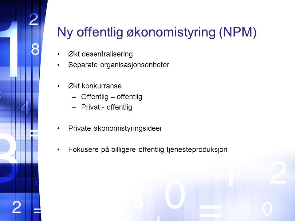 Ny offentlig økonomistyring (NPM)