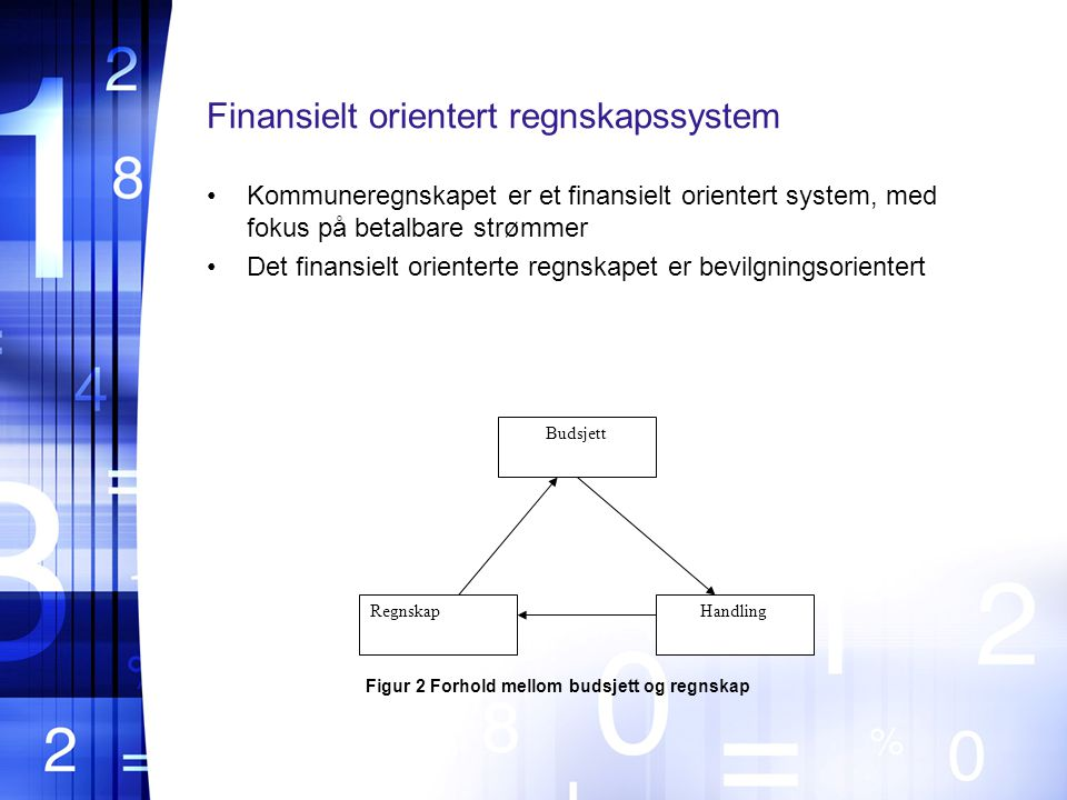 Finansielt orientert regnskapssystem