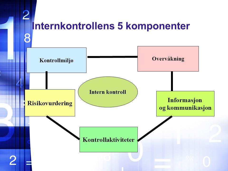 Internkontrollens 5 komponenter