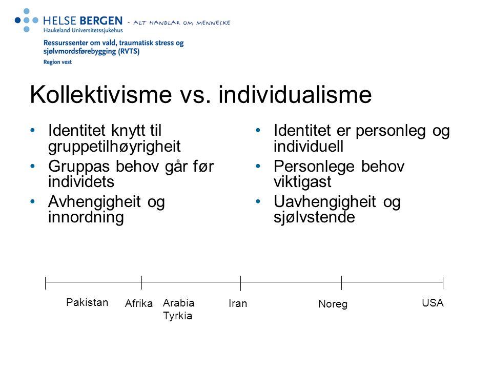 Kollektivisme vs. individualisme