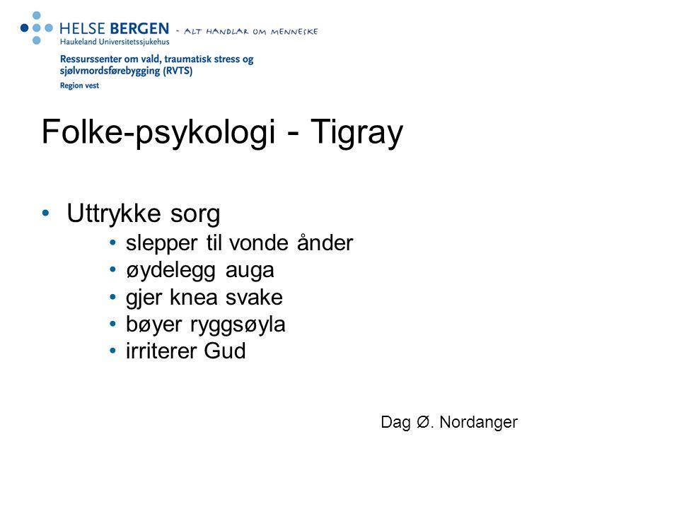 Folke-psykologi - Tigray