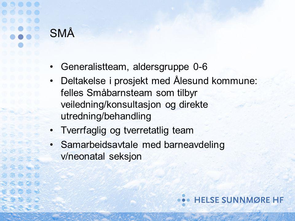 SMÅ Generalistteam, aldersgruppe 0-6