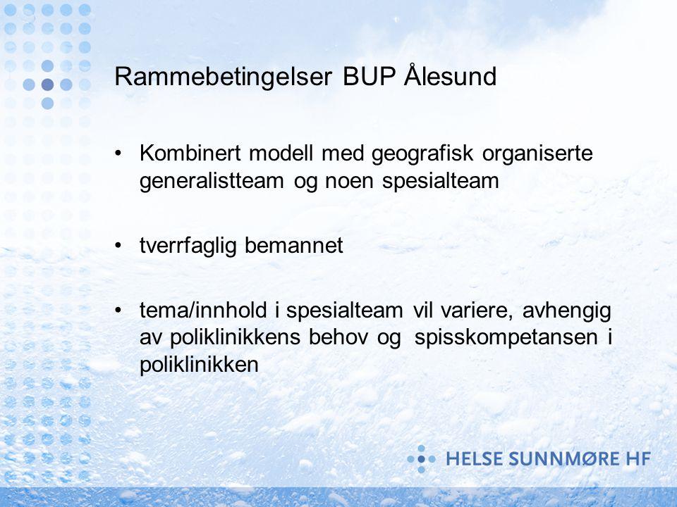 Rammebetingelser BUP Ålesund