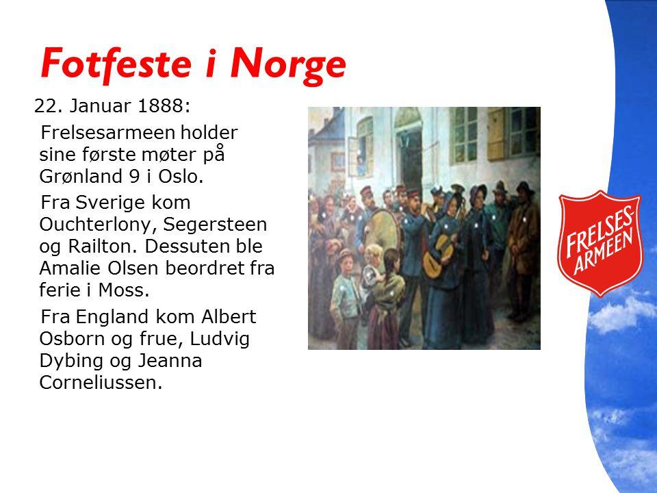 Fotfeste i Norge 22. Januar 1888: