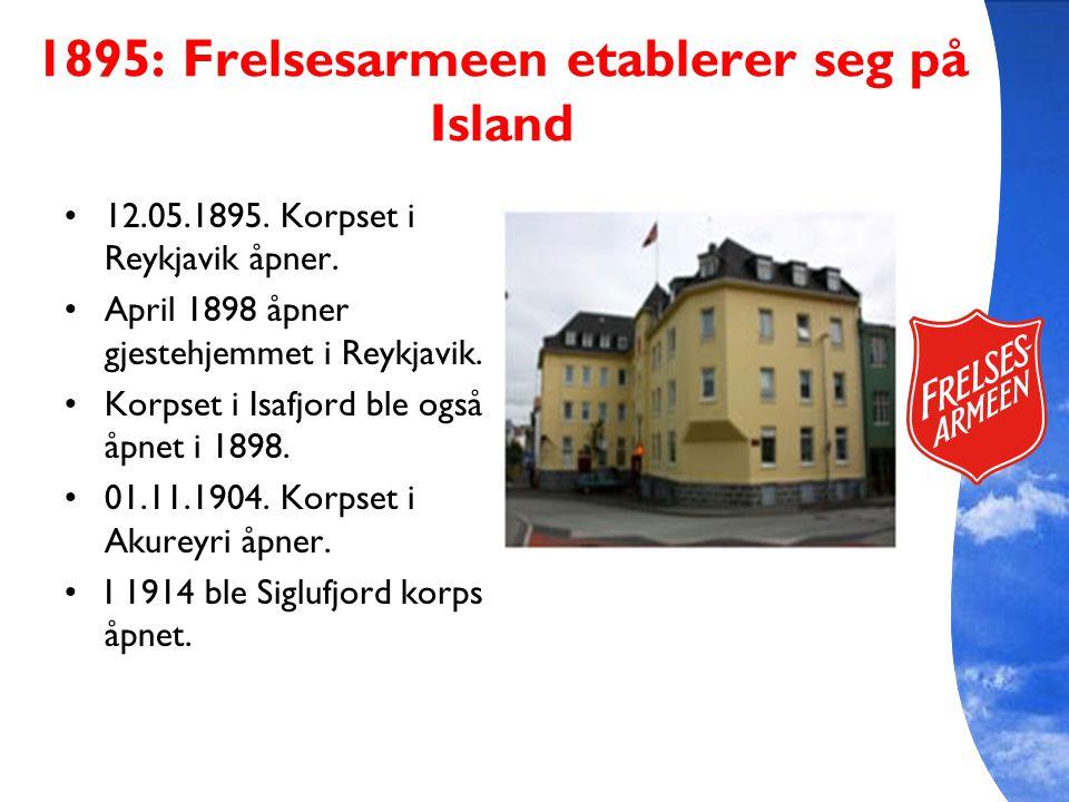 1895: Frelsesarmeen etablerer seg på Island