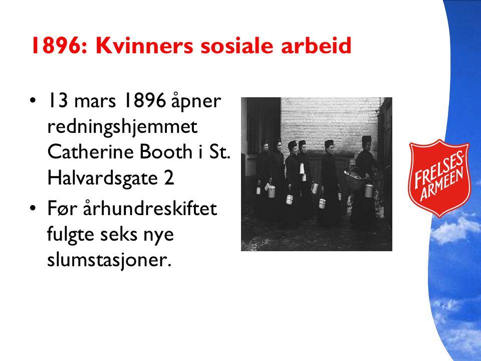 1896: Kvinners sosiale arbeid