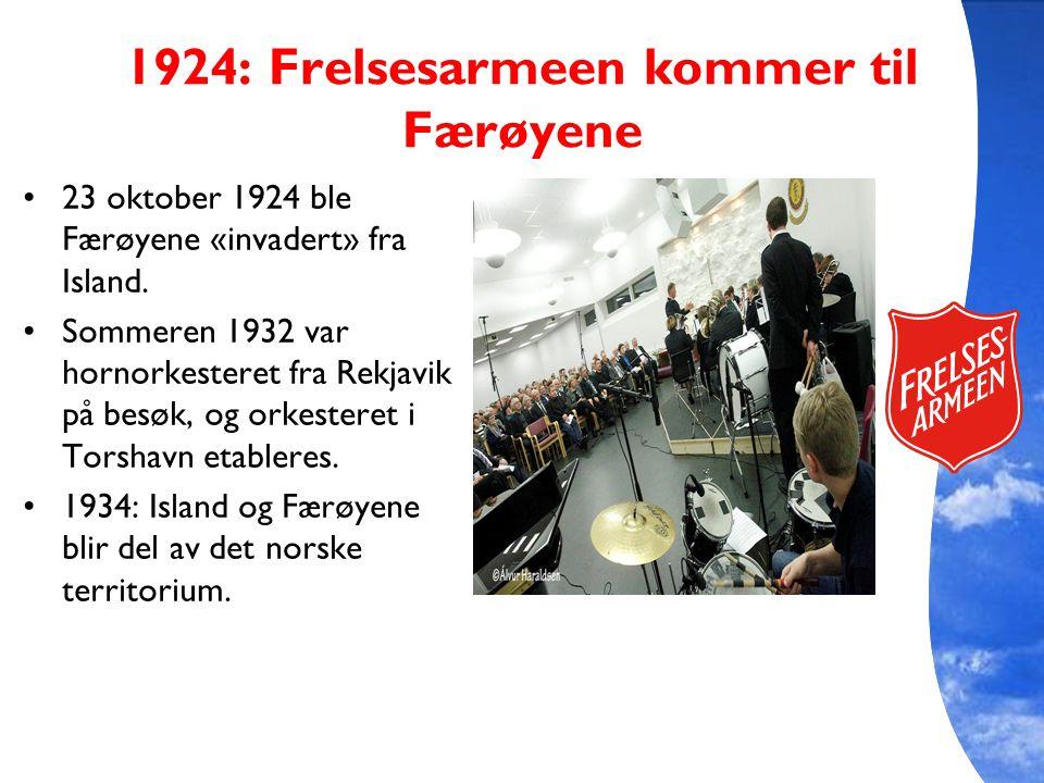 1924: Frelsesarmeen kommer til Færøyene