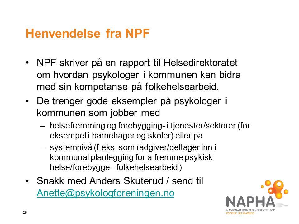 Henvendelse fra NPF