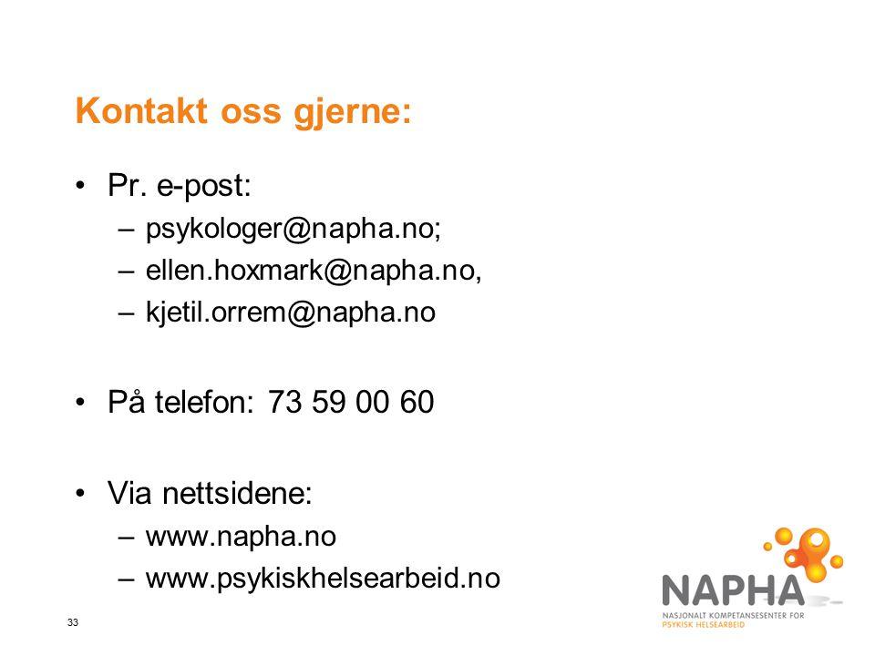 Kontakt oss gjerne: Pr. e-post: På telefon: 73 59 00 60