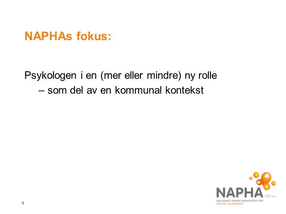 NAPHAs fokus: Psykologen i en (mer eller mindre) ny rolle