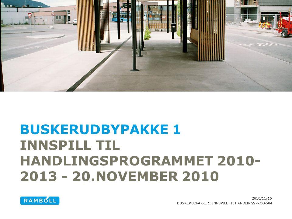 Innspill til handlingsprogrammet 2010-2013 - 20.november 2010