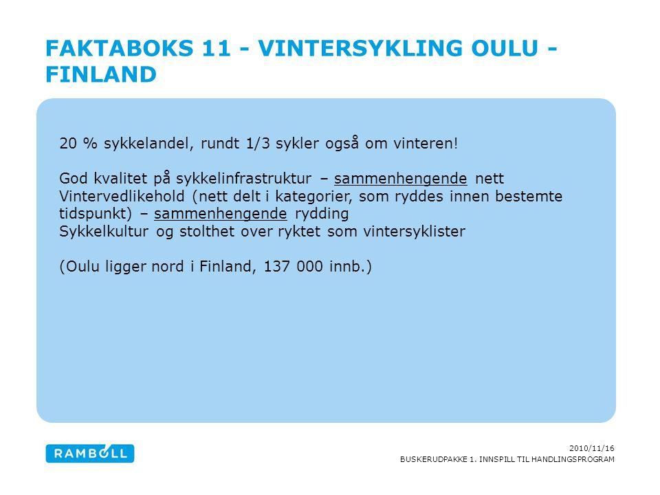 Faktaboks 11 - Vintersykling Oulu - Finland
