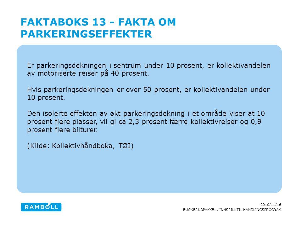Faktaboks 13 - Fakta om parkeringseffekter