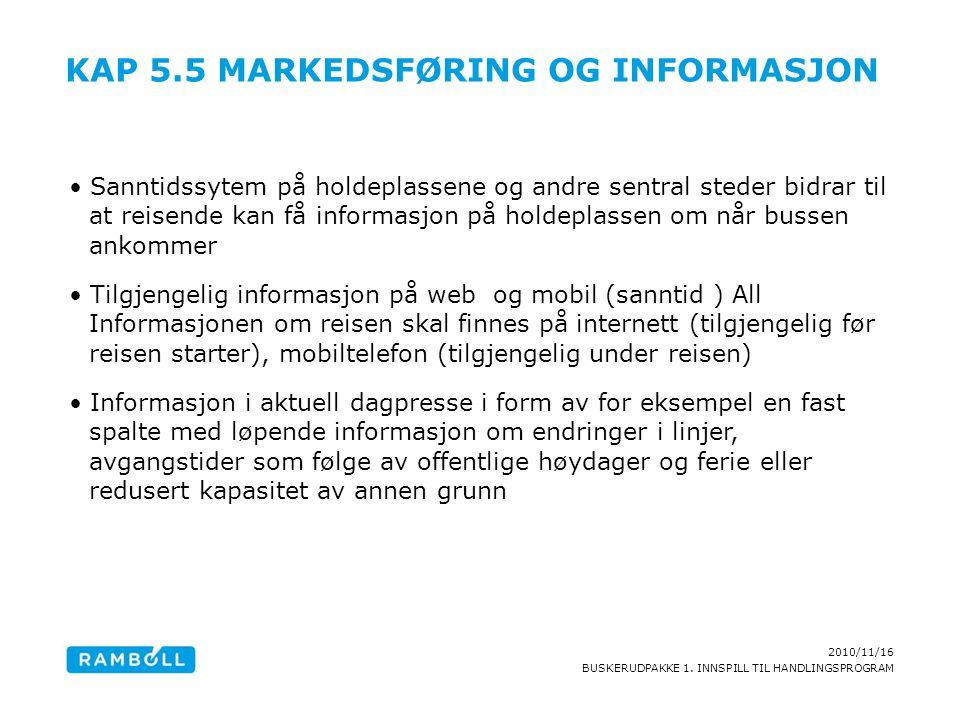 Kap 5.5 Markedsføring og informasjon